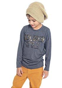 Camiseta Infantil Menino Soldier Mescla Escuro