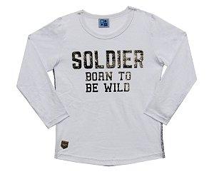 Camiseta Infantil Menino Soldier Branco