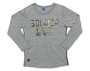 Camiseta Infantil Menino Soldier Mescla