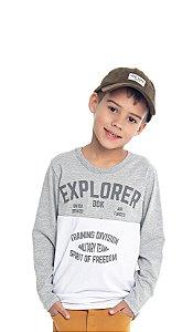 Camiseta Infantil Menino Explorer Mescla