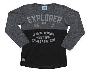 Camiseta Infantil Menino Explorer Mescla Escuro