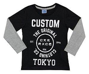 Camiseta Infantil Menino Custom Preto