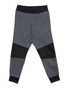 Calça Infantil Menino com Recorte Mescla Escuro
