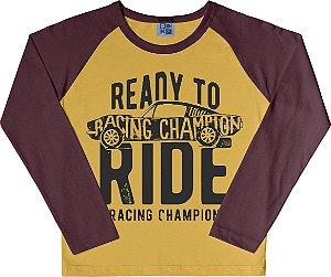 Camiseta Bebê Menino Racing Amarelo
