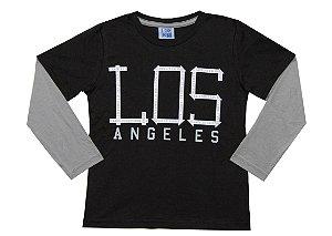 Camiseta Infantil Menino Los Angeles Preto