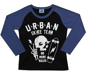 Camiseta Infantil Menino Urban Preto