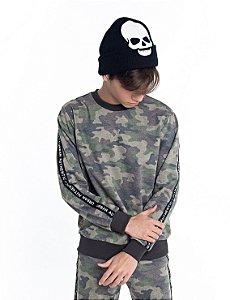 Blusão Infantil Menino Estampada Militar
