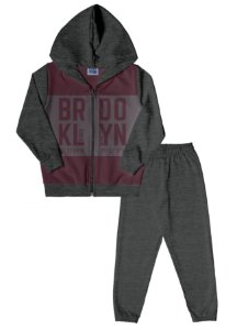 Conjunto Infantil Menino Brooklyn Bordô