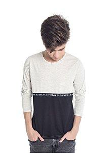 Camiseta Manga Longa Juvenil Menino Bege