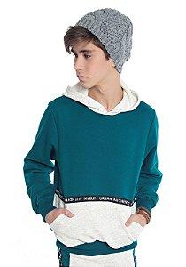 Blusão Juvenil Menino com Bolso Verde