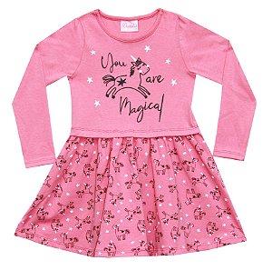 Vestido Infantil Menina Magical Salmão