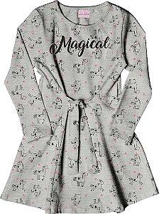Vestido Infantil Menina Magical Mescla