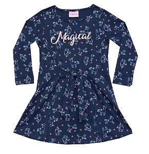 Vestido Infantil Menina Magical Azul