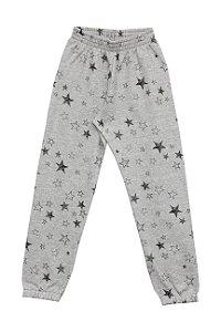 Calça Infantil Menina Estrelas Mescla
