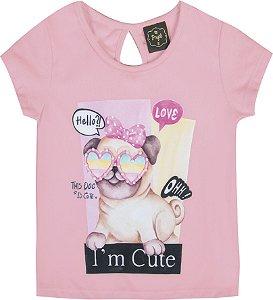 Blusa Bebê Menina Cute Rosa
