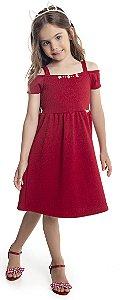 Vestido Infantil Menina  Vermelho