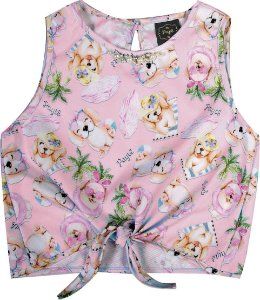 Blusa Infantil Menina Cachorrinho Rosa