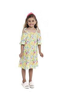 Vestido Infantil Menina Ciganinha Azul