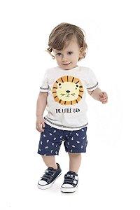 Camiseta Bebê Menino Lion Natural