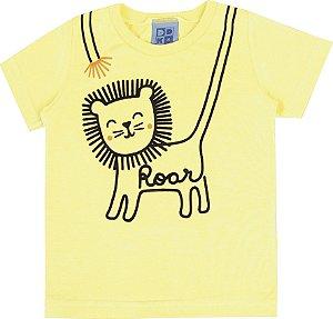 Camiseta Bebê Menino Roar Amarela