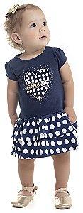 Vestido Bebê Menina Amour Azul