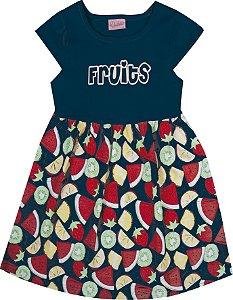 Vestido Bebê Menina Fruits Azul