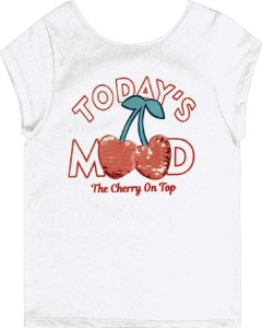 Blusa Infantil Menina Todays Mood Branco
