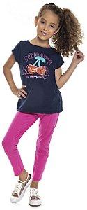 Calça Infantil Menina Lisa Rosa