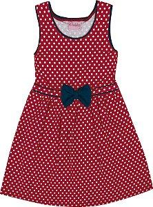 Vestido Bebê Menina Bolinha Vermelho