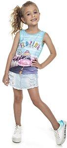 Regata Infantil Menina Florida Azul