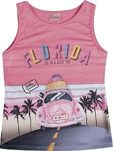Regata Infantil Menina Florida Rosa