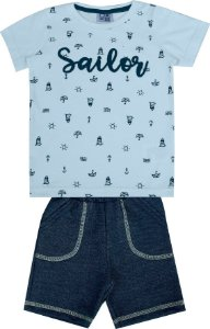 Conjunto Bebê Menino Sailor Azul
