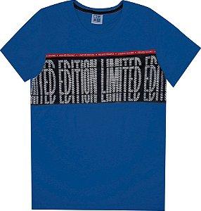 Camiseta Juvenil Menino Limited Azul