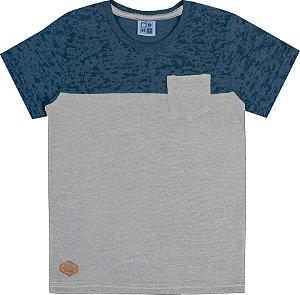 Camiseta Infantil Menino com Bolso  Azul