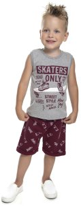 Conjunto Bebê Menino Skaters Mescla