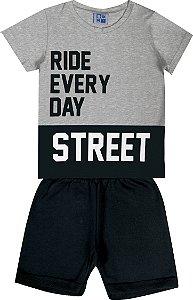 Conjunto Infantil Menino Street Mescla