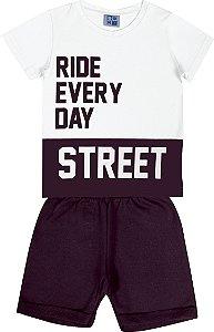 Conjunto Infantil Menino Street Branco