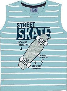 Machão Infantil Menino Skate Azul
