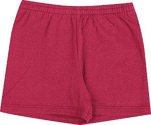 Shorts Infantil Menina Básico Vermelho