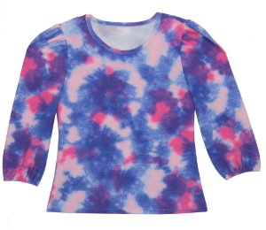 Blusão Feminina Adulto Tie Dye Roxo