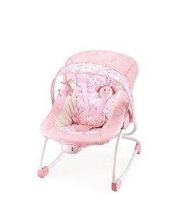 Cadeira De Descanso Rosa Felpudo