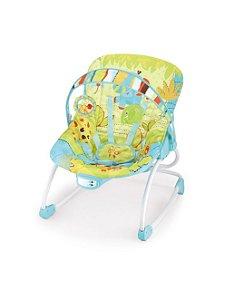 Cadeira De Descanso Rocker Azul/Verde