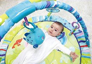 Tapete Infantil Azul Bichos Do Mar