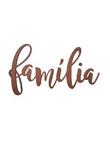 Lettering Família cobre