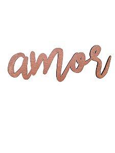 Lettering AMOR COBRE