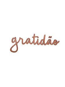 Lettering GRATIDÃO COBRE
