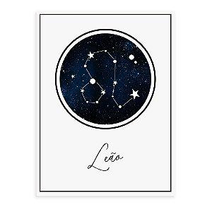 Placa decorativa Constelação Leão