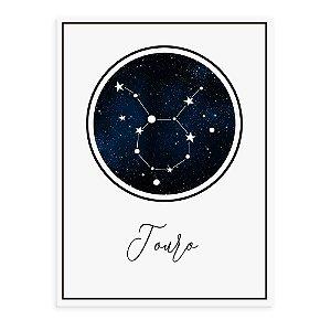 Placa decorativa Constelação Touro