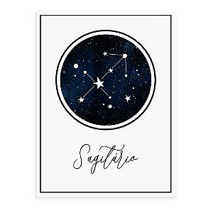 Placa decorativa Constelação Sagitário