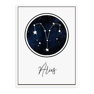 Placa decorativa Constelação Áries